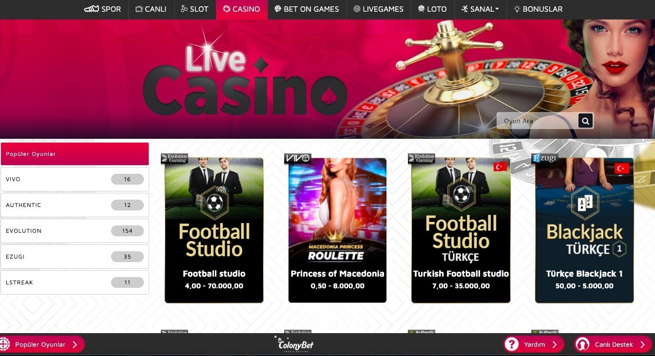 colonybet canlı casino - Colonybet Banka Havalesi ile Para Çekme Yatırma İşlemleri